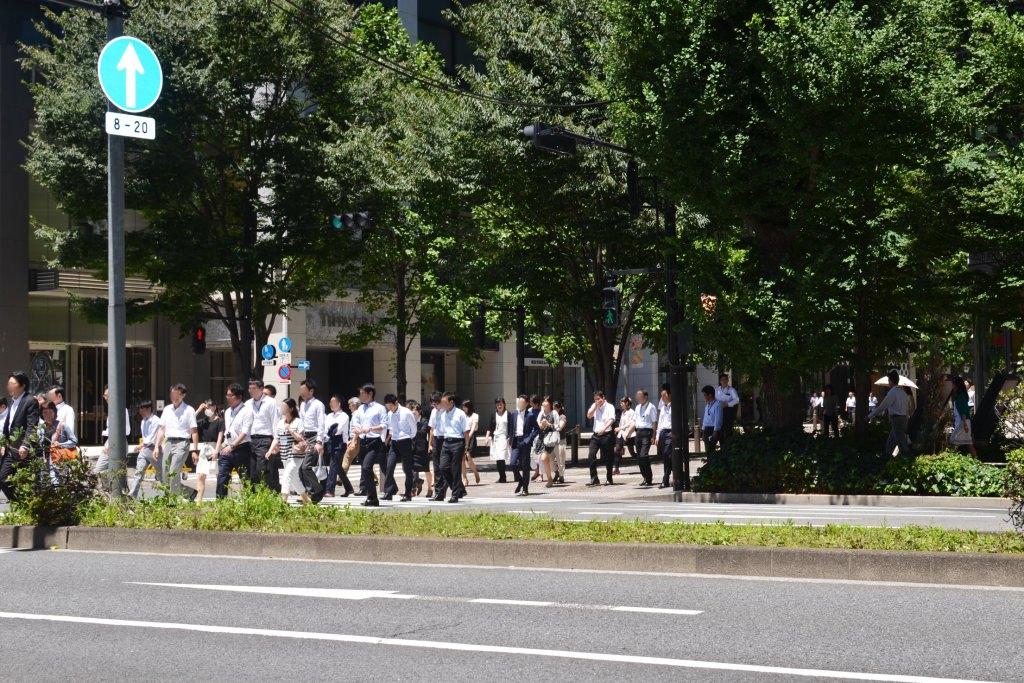 Marunouchi People Crossing Street
