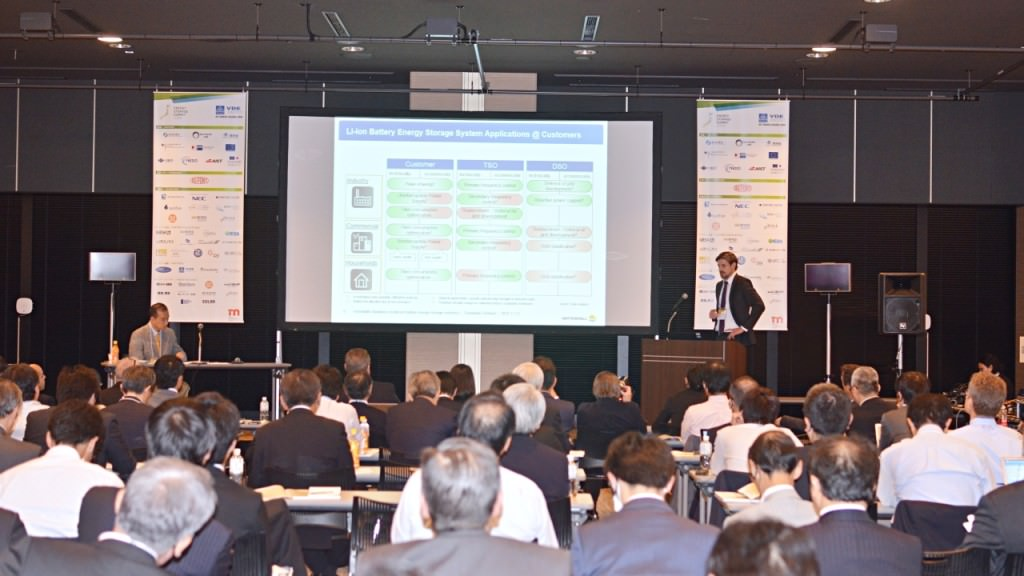 Sebastian Gerhard of Vattenfall GmbH at Energy Storage Summit Japan 2015