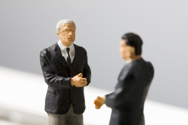 Business men figurines