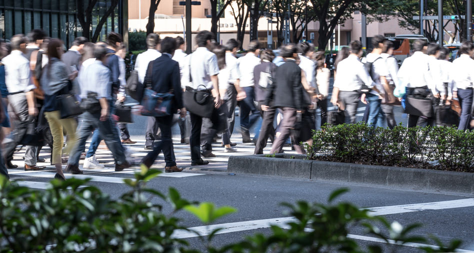 Employ People in Japan - Street Crossing