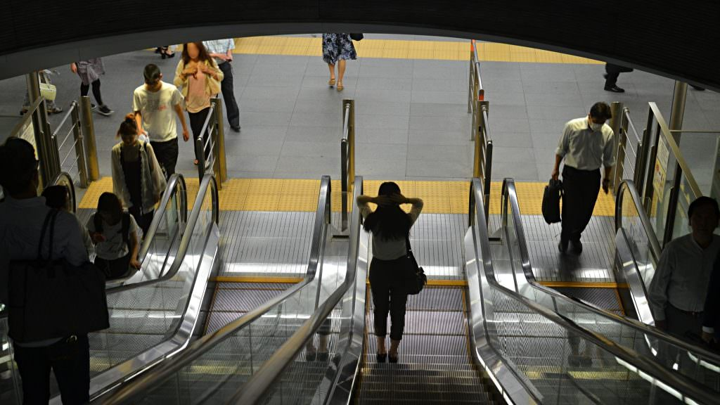 Work Life Balance in Japan - Subway